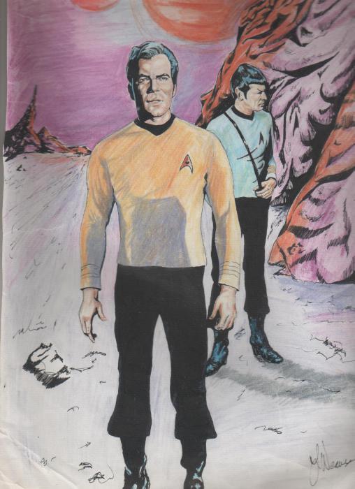 William Shatner, Leonard Nimoy by weaverjohn
